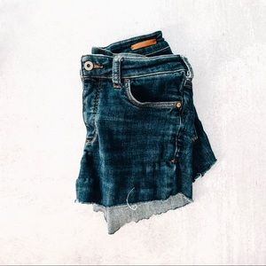 ANTHROPOLOGIE • pilcro hi-rise denim cutoff shorts